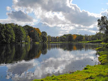 Māras Pond in autumn Royalty Free Stock Photo