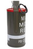 M18 Red Smoke Grenade Royalty Free Stock Photography