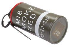 M18 Red Smoke Grenade Royalty Free Stock Photos