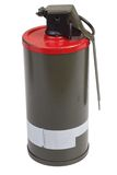M18 Red Smoke Grenade Royalty Free Stock Images