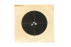 50m, Rifle-alvo Fotografia de Stock