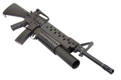 An M16A4 rifle equipped with an M203 grenade launcher Royalty Free Stock Photo