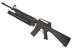An M16A4 rifle equipped with an M203 grenade launcher Royalty Free Stock Images