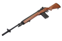 M14 rifle isolated Royalty Free Stock Photo