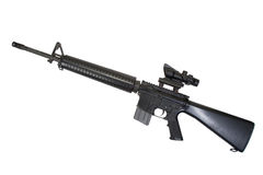 M16 rifle isolated Stock Photo