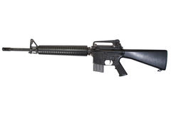 M16 rifle isolated Stock Photos