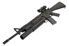 M16 rifle with an M203 grenade launcher Stock Images