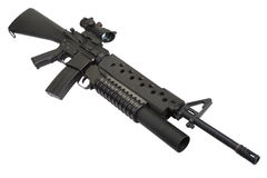 M16 rifle with an M203 grenade launcher Royalty Free Stock Image