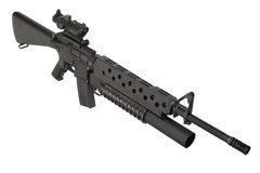 M16 rifle with an M203 grenade launcher Stock Photography