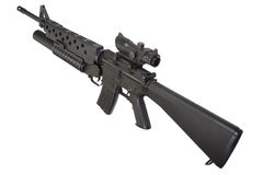M16 rifle with an M203 grenade launcher Royalty Free Stock Images
