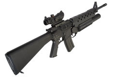 M16 rifle with an M203 grenade launcher Stock Photo