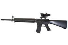 M16 rifle with optical sight Stock Image