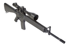 M16 rifle with telescopic sight Royalty Free Stock Image