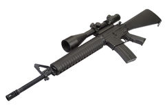 M16 rifle with telescopic sight Royalty Free Stock Photography