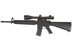 M16 rifle with telescopic sight Stock Photos