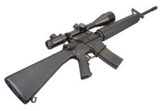 M16 rifle with telescopic sight Stock Photo