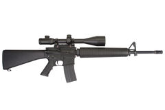M16 rifle with telescopic sight Stock Photography