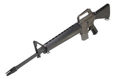 M16 rifle Vietnam War period Royalty Free Stock Photo