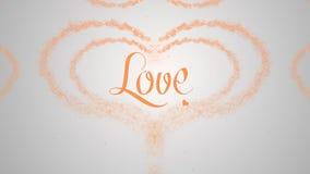 M?rka f?r f?r?lskelse Texten av polymern p? det gammalt skyler ?ver brister Valentins daghj?rta gjorde av isolerad orange f?rgst? royaltyfri illustrationer