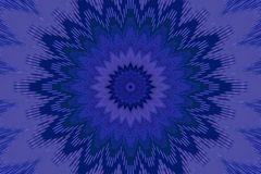 M?rkt - bl? blom- blommamodell djupt keramiskt vektor illustrationer