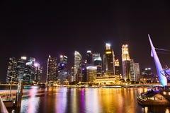 19. M?rz 2019 - Singapur: Wolkenkratzer im Stadtzentrum von Singapur Mitte der Stadt mit Wolkenkratzern, Singapur lizenzfreie stockbilder
