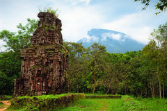 M? S?n ruins. Of old champa kingdom in Vietnam Royalty Free Stock Photos