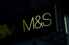 M&S Sign Royalty Free Stock Photos