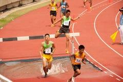 3,000 m.SC in het Open Atletische Kampioenschap 2013 van Thailand. Stock Fotografie