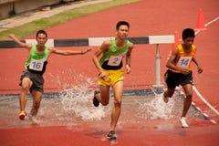 3,000 m.SC in het Open Atletische Kampioenschap 2013 van Thailand. Royalty-vrije Stock Foto's