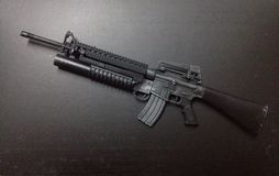 M16A4 Scale1/. This a Weapon Model scale1/6 killer enemy Royalty Free Stock Images