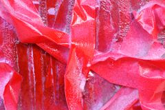 M?scaras brilhantes do vermelho escarlate das listras na superf?cie textured fotografia de stock royalty free