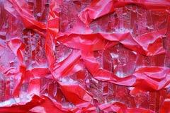 M?scaras brilhantes do vermelho escarlate das listras na superf?cie textured imagem de stock royalty free