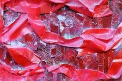M?scaras brilhantes do vermelho escarlate das listras na superf?cie textured fotos de stock