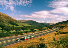 M6, scenic motorway, Cumbria, UK Royalty Free Stock Photos