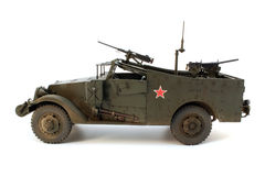 M3 Scout Car left side view. Model of M3 Scout Car left side view Royalty Free Stock Image