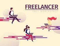 M?scy i ?e?scy charaktery Freelance Domowi pracownicy ilustracji