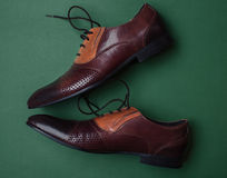 Męscy klasyków buty Fotografia Royalty Free