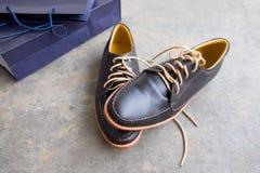 Męscy rzemienni klasyków buty Zdjęcie Royalty Free
