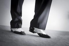 Męscy tancerza tana buty Zdjęcia Stock