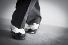 Męscy tancerza tana buty Zdjęcia Royalty Free