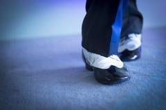 Męscy tancerza tana buty Zdjęcie Royalty Free