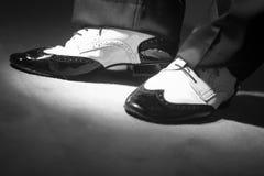 Męscy tancerza tana buty Fotografia Stock