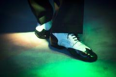 Męscy tancerza tana buty Fotografia Royalty Free