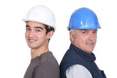 Męscy workmates Fotografia Royalty Free