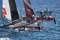 M32 series mediterranean, extreme sailing race in Genoa, Italy Stock Photo