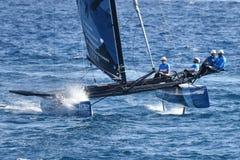 M32 series mediterranean, extreme sailing race in Genoa, Italy Stock Photo