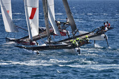 M32 series mediterranean, extreme sailing race in Genoa, Italy Royalty Free Stock Image