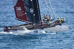 M32 series mediterranean, extreme sailing race in Genoa, Italy Stock Image
