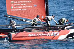 M32 series mediterranean, extreme sailing race in Genoa, Italy Royalty Free Stock Photo