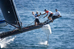 M32 series mediterranean, extreme sailing race in Genoa, Italy Royalty Free Stock Photography